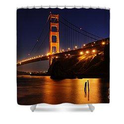 Shower Curtain featuring the photograph Golden Gate Bridge 1 by Vivian Christopher