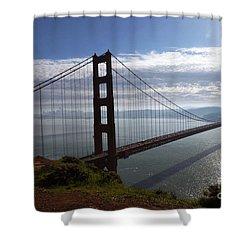 Shower Curtain featuring the photograph Golden Gate Bridge-2 by Steven Spak