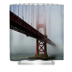 Shower Curtain featuring the photograph Golden Gate Bridge Fog 2 by Stephen Holst