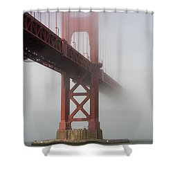 Shower Curtain featuring the photograph Golden Gate Bridge Fog - Color by Stephen Holst