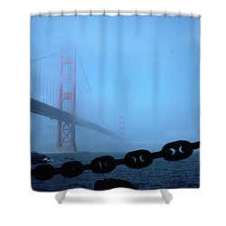 Golden Gate Bridge From Fort Point Shower Curtain