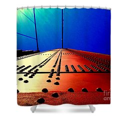 Golden Gate Bridge In California Rivets And Cables Shower Curtain