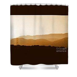 Golden Gate Bridge In San Francisco California Shower Curtain by Michael Hoard