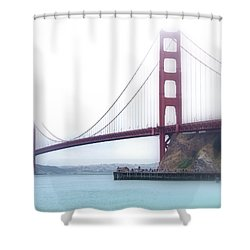 Shower Curtain featuring the photograph Golden Gate Bridge by Laura DAddona