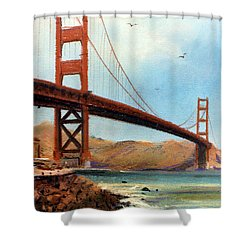 Golden Gate Bridge Looking North Shower Curtain