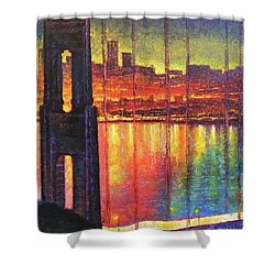 Golden Gate Bridge Shower Curtain by Raffi Jacobian