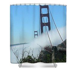 Golden Gate Bridge Towers In The Fog Shower Curtain