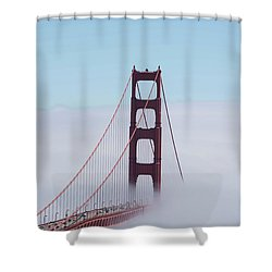 Shower Curtain featuring the photograph Golden Gate Fogged - 3 by David Bearden