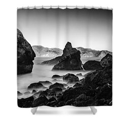 Golden Gate In Black And White Shower Curtain