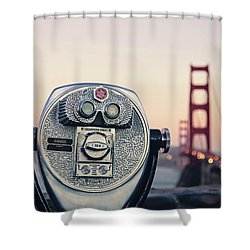 Golden Gate Sunset - San Francisco California Photography Shower Curtain by Melanie Alexandra Price
