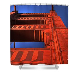Golden Gate Tower Shower Curtain