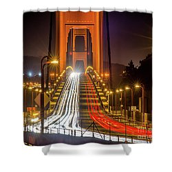 Golden Gate Traffic Shower Curtain