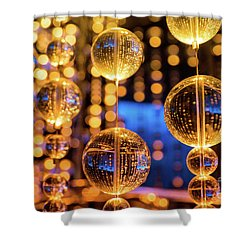 Golden Glass Bubbles Shower Curtain