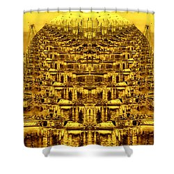 Golden Globe Shower Curtain by Bob Wall