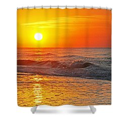 Golden Glory Shower Curtain by Kay Lovingood