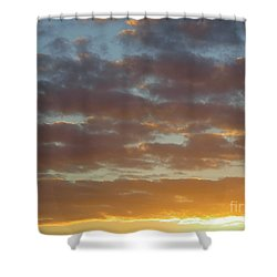 Golden Glow Florida Sunset. Shower Curtain