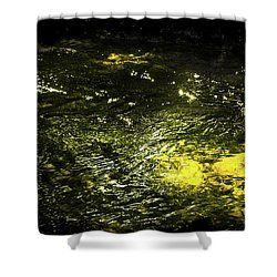 Golden Glow Shower Curtain by Tatsuya Atarashi