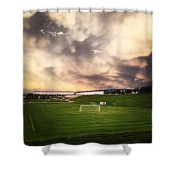 Golden Goal Shower Curtain