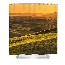 Golden Grains Shower Curtain