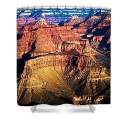 Golden Grand Canyon Shower Curtain