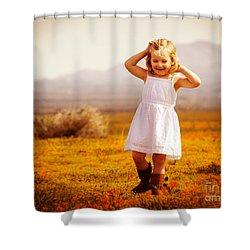 Golden Happiness Shower Curtain