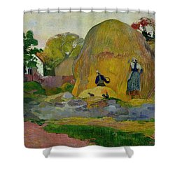 Golden Harvest Shower Curtain by Paul Gauguin