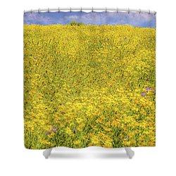 Shower Curtain featuring the photograph Golden Hillside by Marc Crumpler