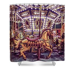 Golden Hobby Horse Shower Curtain