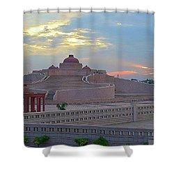 Golden Hour At Ambedkar Park Shower Curtain