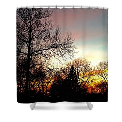 Golden Hour Brilliance Shower Curtain