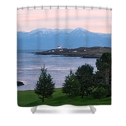 Trial Island Sunset Shower Curtain