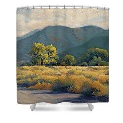 Golden Hour In Owen's Valley Shower Curtain