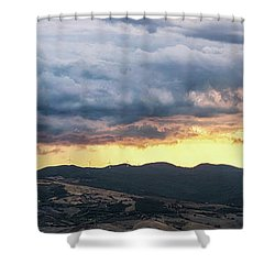 Golden Hour In Volterra Shower Curtain