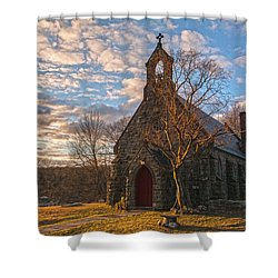 Golden Hour Prayer Service Shower Curtain
