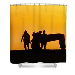 The Golden Hour Shower Curtain by Rhonda Strickland