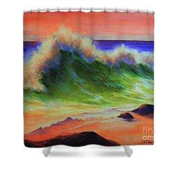 Golden Hour Sea Shower Curtain