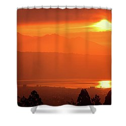 Golden Hour Shower Curtain by Tatsuya Atarashi
