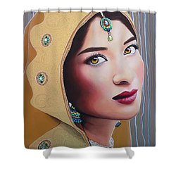 Golden Indian Bride Shower Curtain