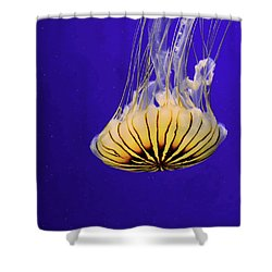 Golden Jellyfish Shower Curtain