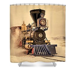Golden Jupiter Shower Curtain