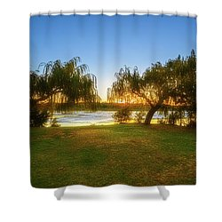 Shower Curtain featuring the photograph Golden Lake, Yanchep National Park by Dave Catley