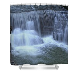 Golden Ledge Shower Curtain