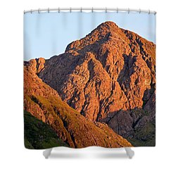 Golden Light Hits Bidean Nam Bian Shower Curtain