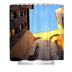 Golden Light In Avignon Shower Curtain