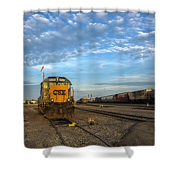 Shower Curtain featuring the photograph Golden Light by Mark Papke