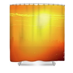 Shower Curtain featuring the photograph Golden Light by Tatsuya Atarashi