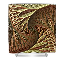 Shower Curtain featuring the digital art Golden by Lyle Hatch
