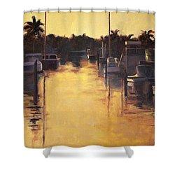 Golden Marina 1 Shower Curtain