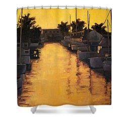 Golden Marina 2 Shower Curtain