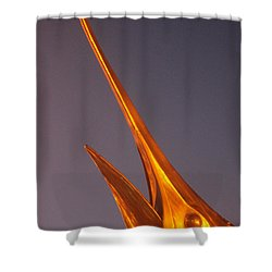 Shower Curtain featuring the photograph Golden Marlin And A Full Moon by Robert Banach
